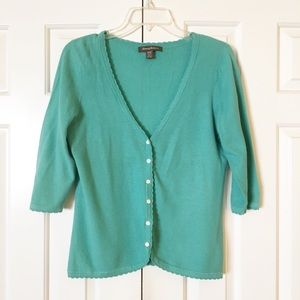 Tommy Bahama green blue light cardigan SZ M. EUC